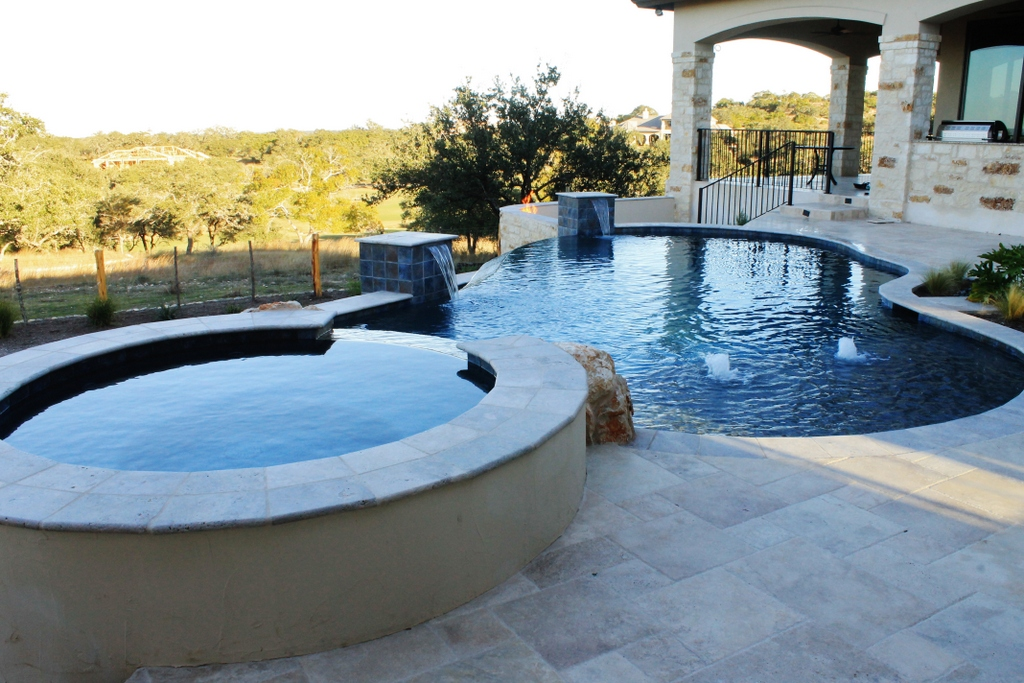 New Swimming Pool and Spa Combination Gallery - Trinity ... on Outdoor Living Pool And Spa id=78583