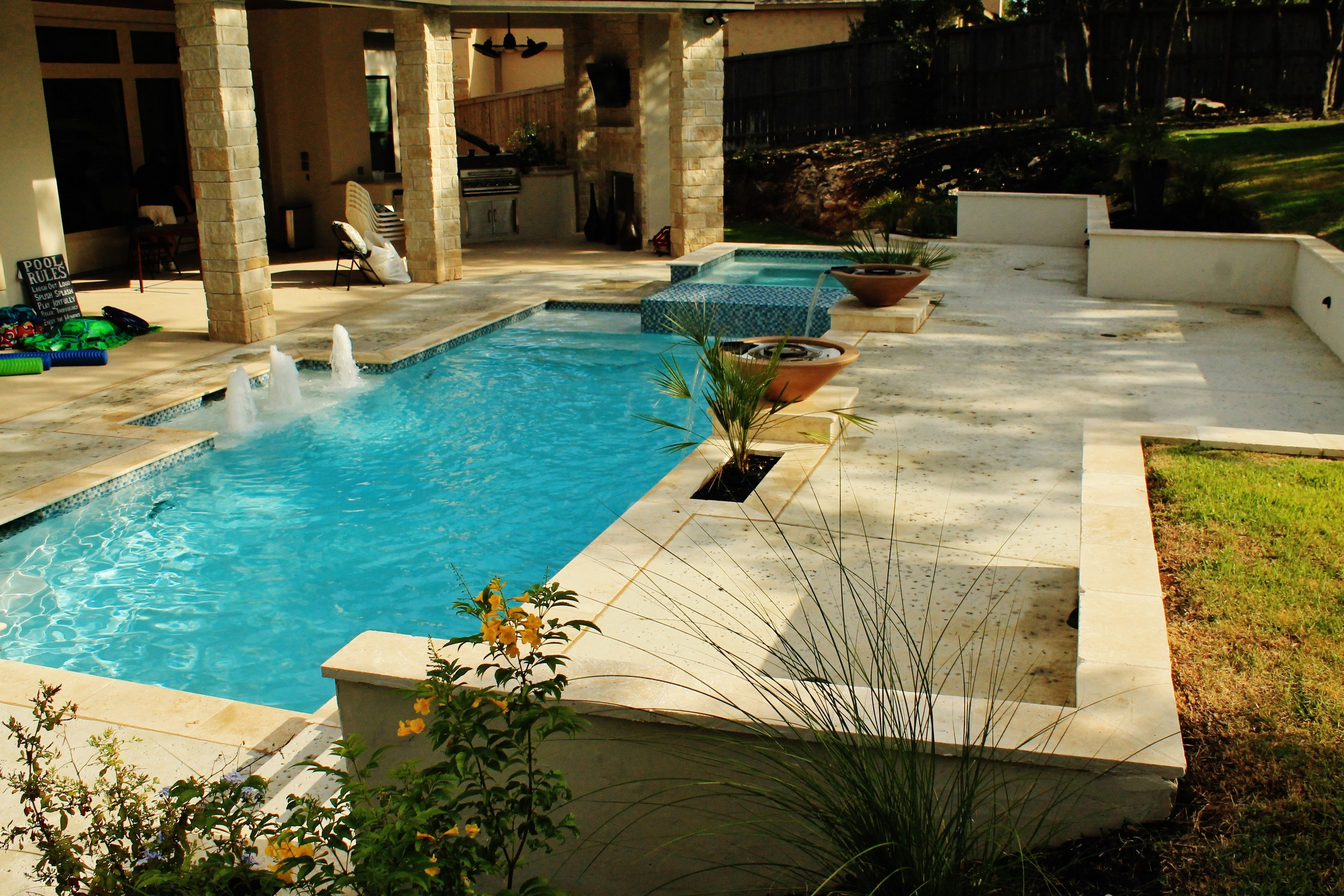New Swimming Pool and Spa Combination Gallery - Trinity ... on Outdoor Living Pool And Spa id=63370
