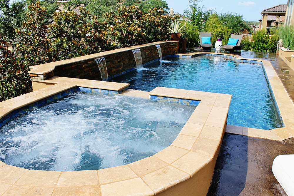 New Swimming Pool and Spa Combination Gallery - Trinity ... on Outdoor Living Pool And Spa id=76688